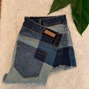 Blank NYC Jeans | Patchwork Denim Shorts